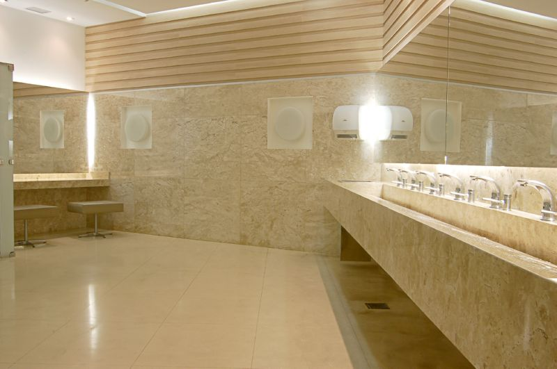 Travertino  Mármore Travertino Nacional  Mármore Bege Bahia -> Banheiro Decorado Com Marmore Travertino
